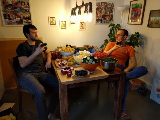 Grillspiesser Nico und Christian