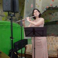 Ein weiteres musikalisches Highlight lieferte uns dann Flutelady und Trauzeugin Katie, mit ihrer brillianten Interpretation einer Tangoetüde von Astor Piazzolla.