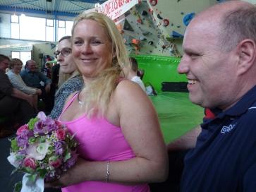 Brautstraussempfängerin